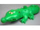 Part No: 87963c01pb02  Name: Duplo Alligator Type 3 - Mouth Opens, Wide Snout, Crossed Eyes Pattern on Top of Snout