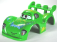Part No: 95207pb02  Name: Duplo Car Body 2 Studs on Spoiler Wide Fenders with Cars Carla Veloso Pattern