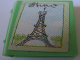 Part No: 33009pb006  Name: Minifig, Utensil Book 2 x 3 with Eiffel Tower Pattern (Sticker) - Set 3290