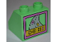 Part No: 6474px19  Name: Duplo, Brick 2 x 2 Slope 45 with TV Screen with Racing Game Pattern on Back (2790)