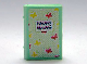 Part No: 33009pb032  Name: Minifig, Utensil Book 2 x 3 with Red and Yellow Butterflies Diary Pattern (Stickers) - Set 3211