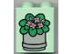 Part No: 4066pb068  Name: Duplo, Brick 1 x 2 x 2 with Potted Plant Pattern