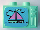 Part No: 4916pb02  Name: Duplo Utensil Television 1 x 2.5 x 1.3 with Ship Pattern