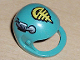 Part No: 2715px1  Name: Technic, Figure Accessory Helmet with Yellow, Black and Silver Pattern