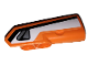 Part No: 11946pb026  Name: Technic, Panel Fairing #21 Very Small Smooth, Side B with Black Stripe and Silver Handle on White Background Pattern (Sticker) - Set 42038