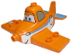 Part No: 13517pb02  Name: Duplo Airplane with Disney Planes Dusty with Blue Trim and Number 7 Pattern