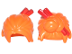 Part No: 28664pb01  Name: Minifigure, Hair Female Loose Bun with Red Chopsticks Pattern