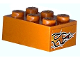 Part No: 3002pb14  Name: Brick 2 x 3 with Orange Flame Pattern on Both Ends (Stickers) - Set 8641