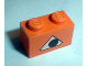 Part No: 3004pb022  Name: Brick 1 x 2 with Pumpkin Jack O' Lantern Eye Pattern