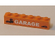 Part No: 3009pb118  Name: Brick 1 x 6 with Truck, Car and 'GARAGE' Pattern (Sticker) - Set 7642
