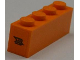 Part No: 3010pb140  Name: Brick 1 x 4 with 'XR FUEL' on Orange Background Pattern on Both Sides (Stickers) - Set 8186