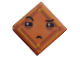 Part No: 3070bpb109  Name: Tile 1 x 1 with Groove with Face with Narrowed Eyes, One Eyebrow Raised and Small Frown (Kryptomite) Pattern