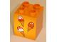 Part No: 31110pb033  Name: Duplo, Brick 2 x 2 x 2 with Three Ice Cream Cones Pattern