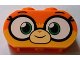 Part No: 35477pb001  Name: Brick 1 x 3 with Round Ends with Large Eyes and Smile Pattern (Dr. Fox / Unikitty)