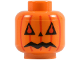 Part No: 3626bpb0011  Name: Minifig, Head with Pumpkin Jack O' Lantern Pattern - Blocked Open Stud