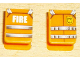 Part No: 3840pb07  Name: Minifig, Vest with Straps and Fire Logo and 'FIRE' Pattern (Stickers)
