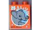 Part No: 4066pb437  Name: Duplo, Brick 1 x 2 x 2 with Elephant and 25 Visit Legoland Windsor Pattern