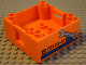 Part No: 47423pb05  Name: Duplo Container Box 4 x 4 with Studs on Corners with Wrench and Repair Phone Number Pattern