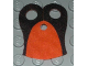 Part No: 48431pb01  Name: Minifigure, Armor Pauldron Cloth with Black Neck Pattern