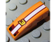Part No: 50950pb031  Name: Slope, Curved 3 x 1 No Studs with Number 3 and White Stripe Pattern (Sticker) - Set 8304