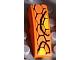 Part No: 50950pb051g  Name: Slope, Curved 3 x 1 No Studs with Snakeskin Pattern G (Sticker) - Set 8158