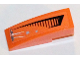 Part No: 50950pb062R  Name: Slope, Curved 3 x 1 No Studs with Black Grille and Damage Pattern Right Side (Sticker) - Set 5985