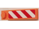 Part No: 60477pb004L  Name: Slope 18 4 x 1 with Red and White Danger Stripes Pattern Model Left Side (Sticker) - Set 60083
