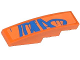 Part No: 61678pb065  Name: Slope, Curved 4 x 1 No Studs with Blue Graffiti Tag Pattern (Sticker) - Set 70808