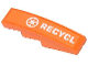 Part No: 61678pb066  Name: Slope, Curved 4 x 1 No Studs with Recycling Arrows and 'RECYCL' Pattern (Sticker) - Set 70808