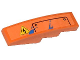 Part No: 61678pb067L  Name: Slope, Curved 4 x 1 No Studs with Electricity Danger Sign, Hatch and Blue Paint Spots Pattern Model Left Side (Sticker) - Set 70808