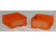 Part No: 6966pb03  Name: Scala Box 7 x 7 x 3 with 3 sides with Lattice Pattern on Both Sides (Stickers) - Set 3117