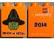 Part No: 76371pb133  Name: Duplo, Brick 1 x 2 x 2 with Bottom Tube with Legoland Florida 2014 Brick or Treat Pattern