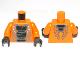 Part No: 973pb1196c01  Name: Torso Ninjago Snake with Black Scales Pattern (Snike) / Orange Arms / Black Hands