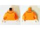 Part No: 973pb2063c01  Name: Torso Female Figure with Dark Orange Outlines and Black Collar Outline Pattern (Velma) / Orange Arms / Light Flesh Hands