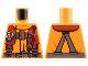 Part No: 973pb2856  Name: Torso Coast Guard, Jacket with Harness, Belt, Carabiner and Coast Guard Logo Badge Pattern