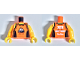 Part No: 973pb3351c01  Name: Torso with Tank Top with Black Straps and Side Panels, 'SPORT' Logo on Front and LEGO Fun Run 2018 on Back Pattern / Yellow Arms / Yellow Hands