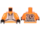 Part No: 973pb3486c01  Name: Torso SW Rebel Pilot with '20 YEARS LEGO STAR WARS' on Back Pattern / Orange Arms / Black Hands