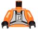Part No: 973ps1c01  Name: Torso SW Rebel Pilot Pattern / Orange Arms / Black Hands