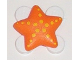 Part No: clikits013pb03  Name: Clikits Icon, Star 2 x 2 Small with Pin, Yellow Spots as Starfish Pattern