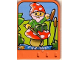 Part No: dupstr29  Name: Storybuilder Happy Home Card with Elf on Mushroom Pattern