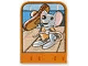 Part No: dupstr30  Name: Storybuilder Happy Home Card with Mouse and Hot Dog Pattern
