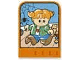 Part No: dupstr33  Name: Storybuilder Happy Home Card with Girl Pattern