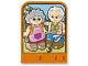 Part No: dupstr34  Name: Storybuilder Happy Home Card with Grandma and Grandpa Pattern