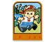 Part No: dupstr36  Name: Storybuilder Happy Home Card with Boy Pattern
