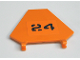 Part No: x1435pb003  Name: Flag 5 x 6 Hexagonal with Black Number 24 Pattern (Sticker) - Set 7738