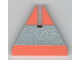 Part No: x605pb01  Name: Foam, Racers, Cone Triangle Upright with Silver Stripe 6 x 6 with Top Cutout