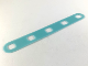 Part No: clikits057  Name: Clikits Flexy Film, Strip 2 x 14 with Rounded Ends and 5 Holes