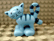 Part No: 2032c01pb01  Name: Duplo Cat Standing Turned Head with Stripes Pattern - 'Pilchard'