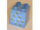 Part No: 31110pb038  Name: Duplo, Brick 2 x 2 x 2 with Eight Bees Pattern