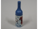 Part No: 33011bpb05  Name: Scala Accessories Bottle Wine, Label with White Cat and Brown Dog Pattern (Sticker) - Set 3110